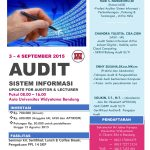 Workshop Audit Sistem Informasi Update For Auditor & Lecturer